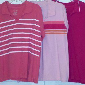 (3) St. John's Bay Polo Shirts Bundle #301
